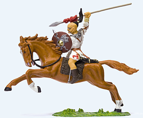 Preiser 50479 - Hunter on horseback with pitching speer