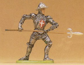 Preiser 52003 - Knight atckng w/pike 1:25