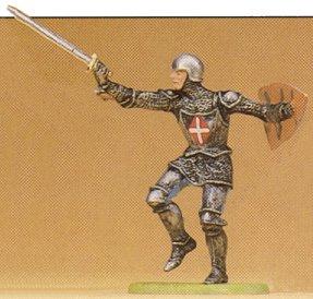 Preiser 52007 - Knight atckng w/swrd 1:25