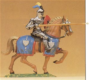 Preiser 52041 - Knight rdng w/lance 1:25