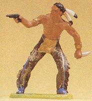 Preiser 54606 - Indian with gun & knife