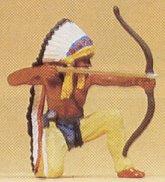 Preiser 54614 - Indian chief w/bow kneelg