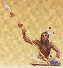 Preiser 54618 - Indian sitting w/spear