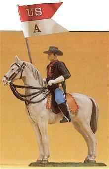 Preiser 54754 - Soldier on horseback/flg