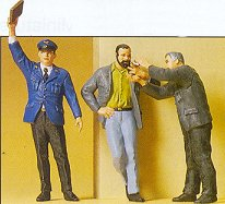 Preiser 63058 - Conductor, smoking workers