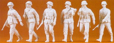 Preiser 64004 - Soldiers walking unptd 6/