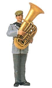 Preiser 64357 - Musician w/Tuba Unpnt