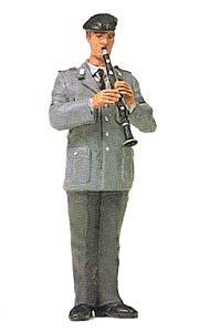 Preiser 64368 - Male w/Clarinet Unpnt