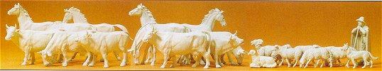Preiser 72511 - Horses/cows/sheep up 1:72