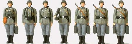 Preiser 72536 - Ifantry Riflemen w/Mortar