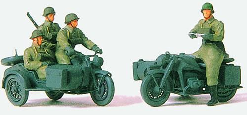 Preiser 72538 - Mounted Motorcyle Crew