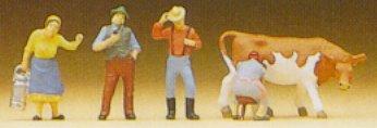 Preiser 79039 - Farm people w/cow      4/
