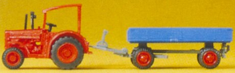 Preiser 79502 - Hanomag tractor w/wagon