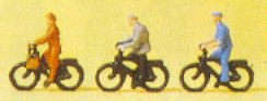 Preiser 80911 - People riding bicycles 3/