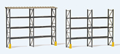 Industrial pallet racking for 48 euro pallets, with roofing