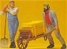 Worker w/whl barrow 1:22
