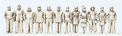 Standing 6 Women and 6 Men - Kit Unpainted