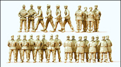 German Army (BW) Unpainted Figures -- Soldiers on Parade Ground (Marching, Standing at Ease) pkg(26)