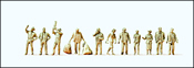 Airline & Airport Personnel, Unpainted, pkg(11)