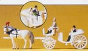 Horse & carriage-white