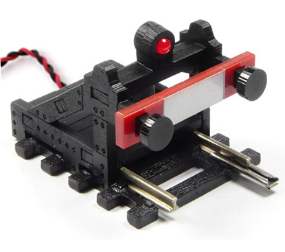 Proses BF-HO-02 - HO Scale Buffer Stop DC, DCC, Wired