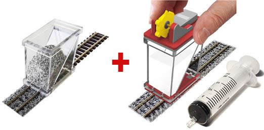 Proses BS-FIX-04 - COMBO N Scale Ballast Spreader & Gluer
