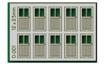 Proses D-001 - HO 10 pcs 12X23mm 2 Lite Doors