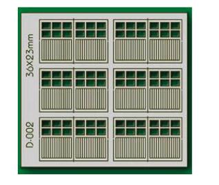 Proses D-002 - HO 6 pcs 36X23mm 6 Lite Dbl Unit Garage Doors