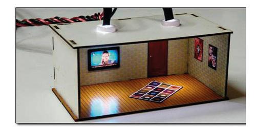 Proses LS-001 - HO 2 pcs Illuminated Rooms w/flat TVs News & Sports