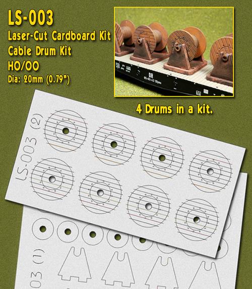Proses LS-003 - HO Laser-Cut Cable Drums Kit (4 drums)