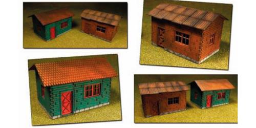 Proses LS-004 - HO Laser-Cut Cottages Kit (2 cottages)