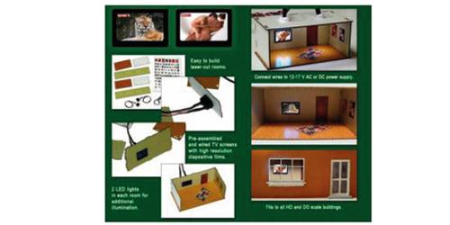 Proses LS-008 - HO 2 pcs Illuminated Rooms w/flat TVs Nature & Erotic