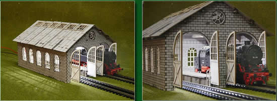 Proses LS-009 - HO Double Engine Loco Shed Laser-Cut Kit