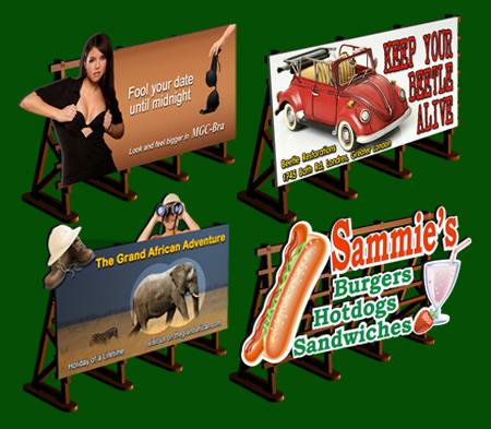 Proses LS-010 - HO Laser-Cut Outdoor Billboards Kit No:2 (4 in a set)