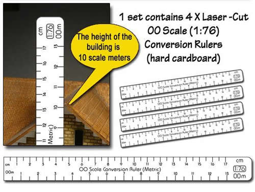 Proses PR-CR-87M - 1:87 Scale Conversion Ruler (Metric) HO