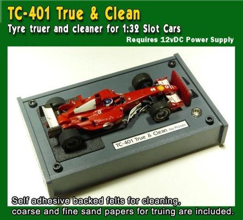 Proses TC-401 - Tyre Truer and Cleaner for 1:32 Slot Cars w/220V Adaptor