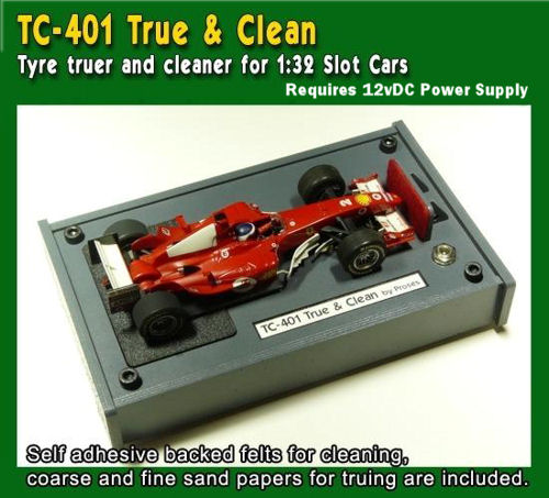 Proses TC-401X - Tyre Truer and Cleaner for 1:32 Slot Cars without Adaptor