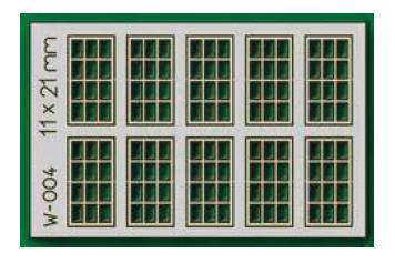 Proses W-004 - HO 10pcs 11X21mm 12 Pane Laser-Cut Windows