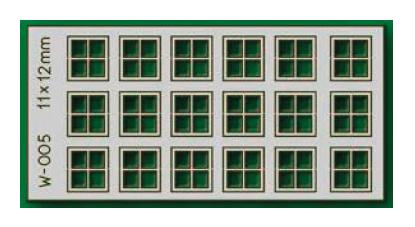 Proses W-005 - HO 18 pcs 11X12mm 4 Pane Laser-Cut Windows