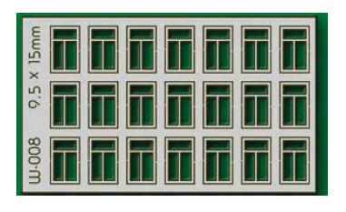 Proses W-008 - HO 21 pcs 9.5X15mm 3 Pane Windows