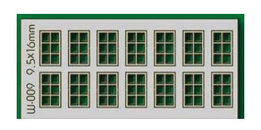Proses W-009 - HO 14 pcs 9.5X16mm 6 Pane Windows