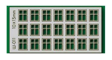 Proses W-011 - HO 21 X10X13mm 4 Pane Windows