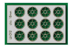 Proses W-012 - HO 12 pcs 18mm Diameter Round Windows