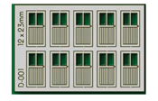 HO 10 pcs 12X23mm 2 Lite Doors