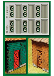 HO 6 pcs 11X24mm Cottage Doors