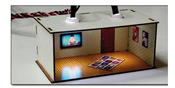 HO 2 pcs Illuminated Rooms w/flat TVs News & Sports