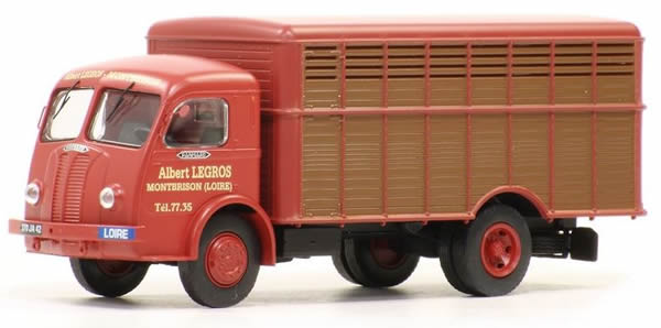 REE Modeles CB-044 - French Panhard Truck Movic bétaillère grand animaux rouge brique et marron