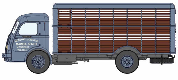 REE Modeles CB-045 - Cattle Truck Panhard Movic small animals two-colored Grey and Brown