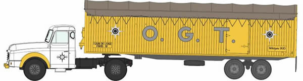 REE Modeles CB-074 - Tractor and trailer Willeme kangaroo OGT