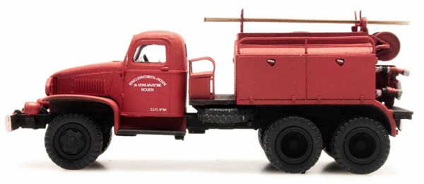 REE Modeles CB-077 - GMC C.C.F.L Tank Truck for Forest Fire Froger Steel Cabin ROUEN